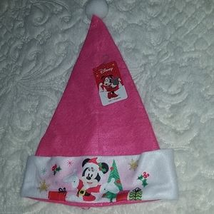 Pink Minnie Mouse Santa Hat